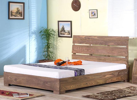 Solid Wood Capital Bed