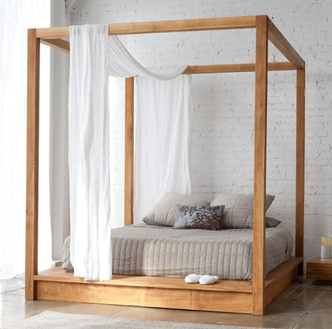 Solid Sheesham Wood Poster Bed