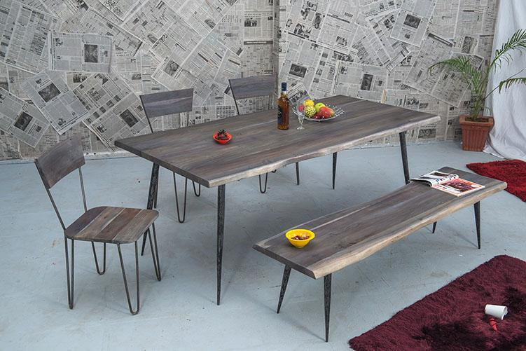 Solid Wood INDIANA Dusk Dining Set