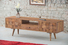 Solid Wood Million Tv Unit with 2 Doors & Drawer