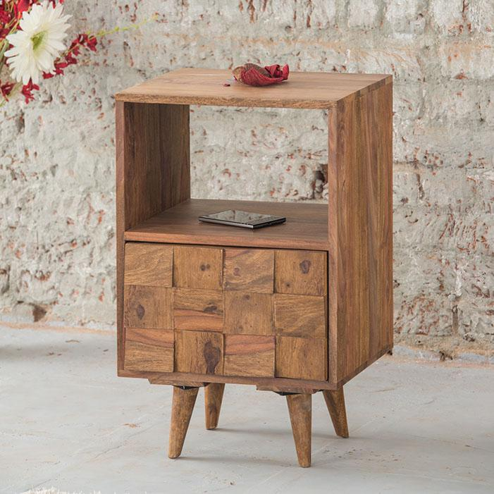 Solid Wood Million Bedside Table with Drawer