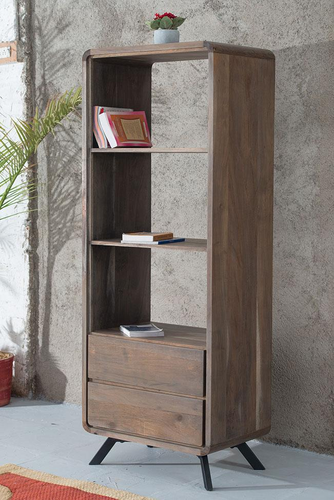 Solid Wood INDIANA Dusk Bookshelf