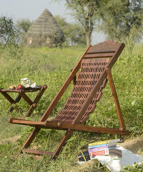 Solid Wood Garden Lean Back Chair