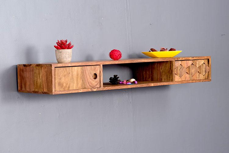 Solid Wood BREW Wall Stand with Drawer
