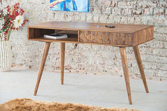 Solid Wood Brew Study Table with Drawer