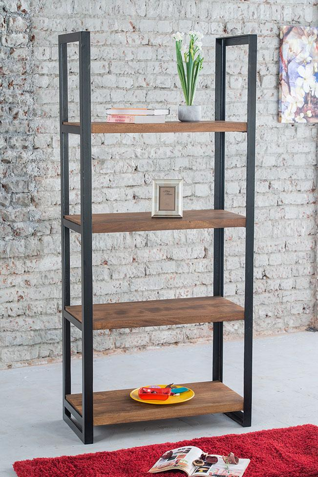 Solid Wood Indiana Mocha Bookshelf