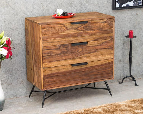Solid Wood INDIANA Lass Chest of Drawers