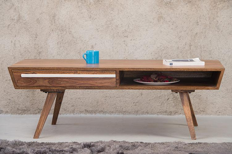 Solid Wood Ellen Coffee Table with Drawer