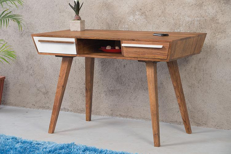 Solid Wood Ellen Study Table with 2 Drawers