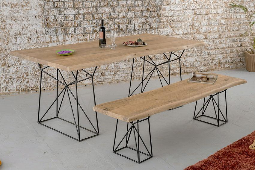Solid Wood INDIANA Bare Dining Table