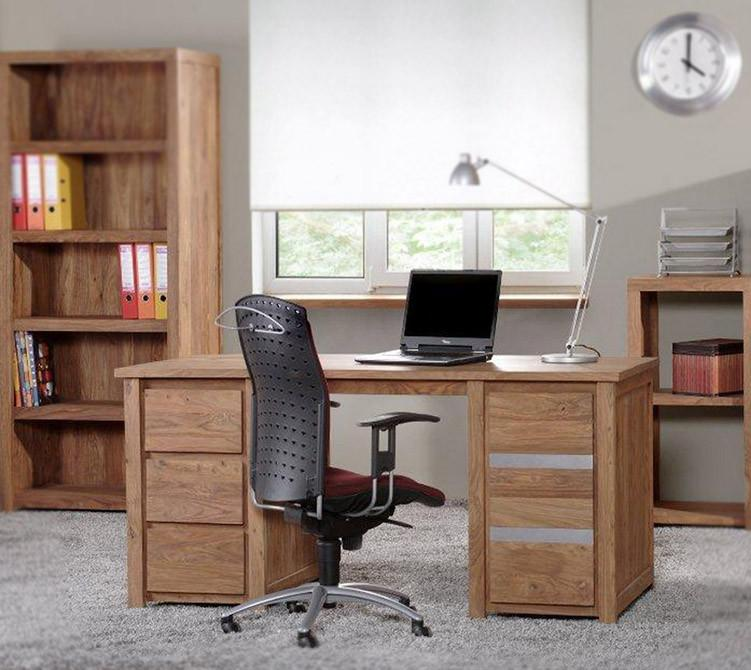Silver Solid Sheesham Wood Office Desk