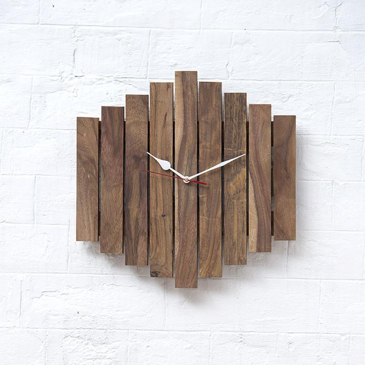 UPSTAIR - Solid Wood Clock