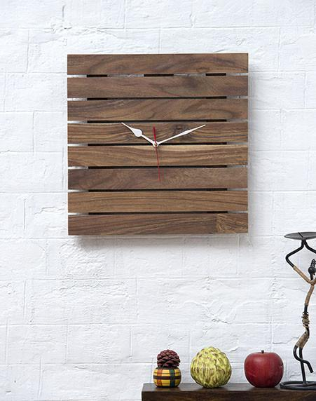 HATTAN - Solid Wood Clock