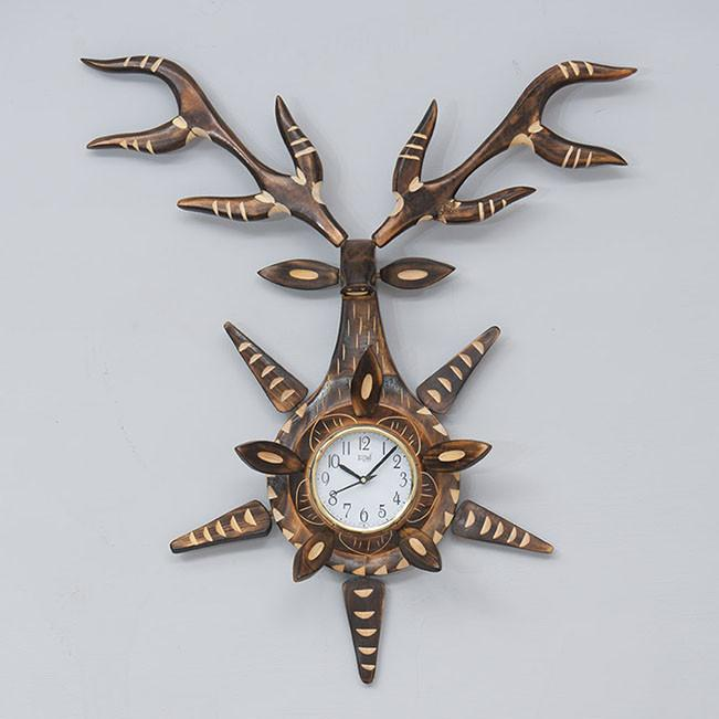 DEER - Solid Wood Clock