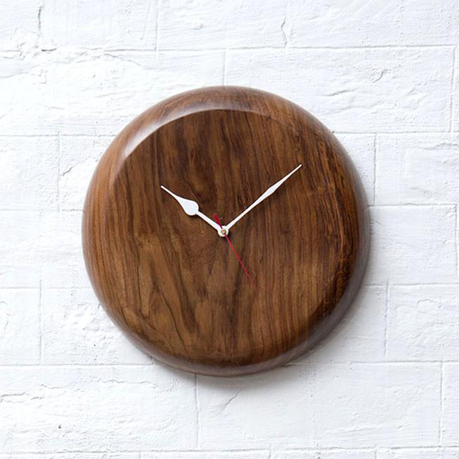 DRUM - Solid Wood Clock