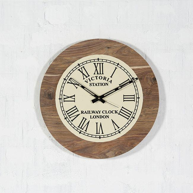 RAIL - Solid Wood Clock