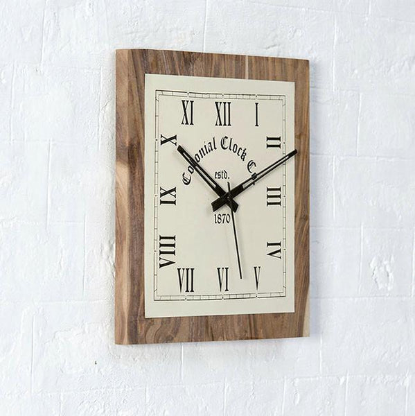 RAILQ - Solid Wood Clock