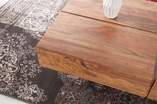 Solid Wood Contrast Coffee Table Large
