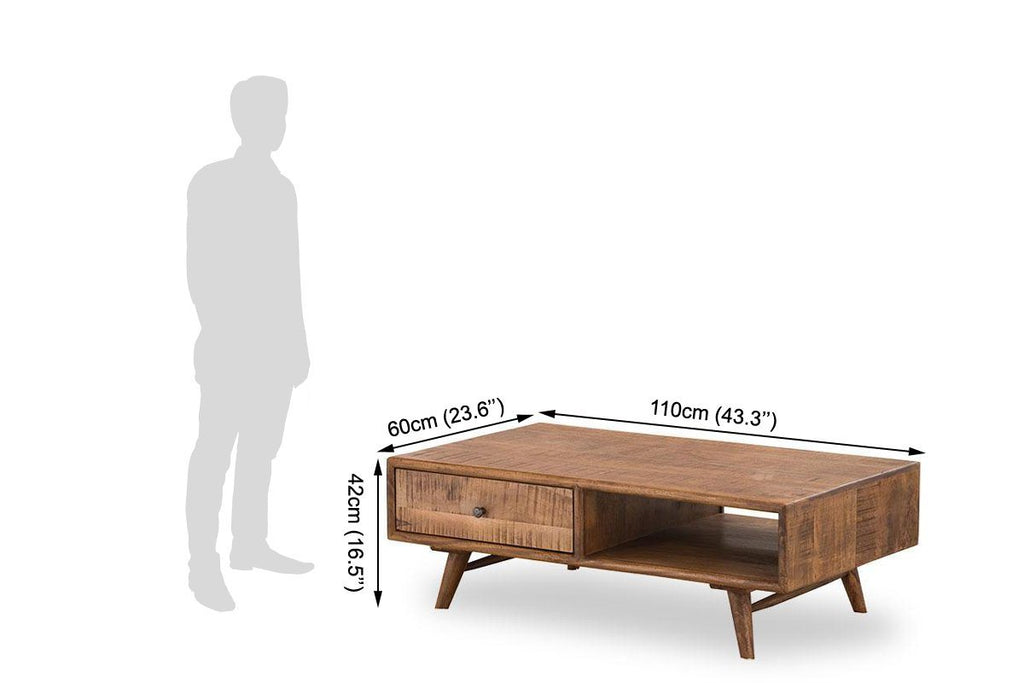 Solid Wood Country EVA Coffee Table