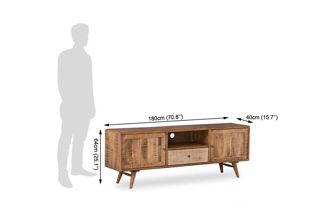 Solid Wood Country EVA Tv Unit