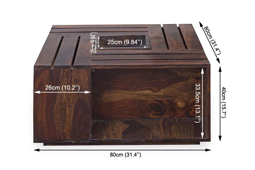 Buy Solid Wood Crate Coffee Table Online New Launches