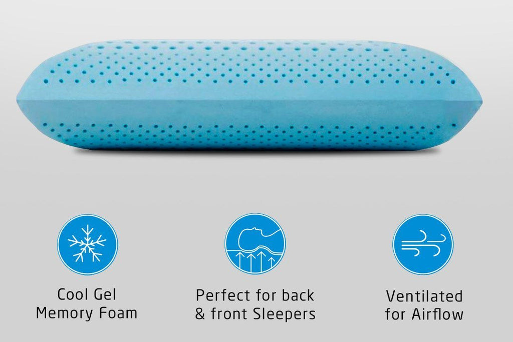 COOL-GEL MEMORY FOAM PILLOW - BREEZE