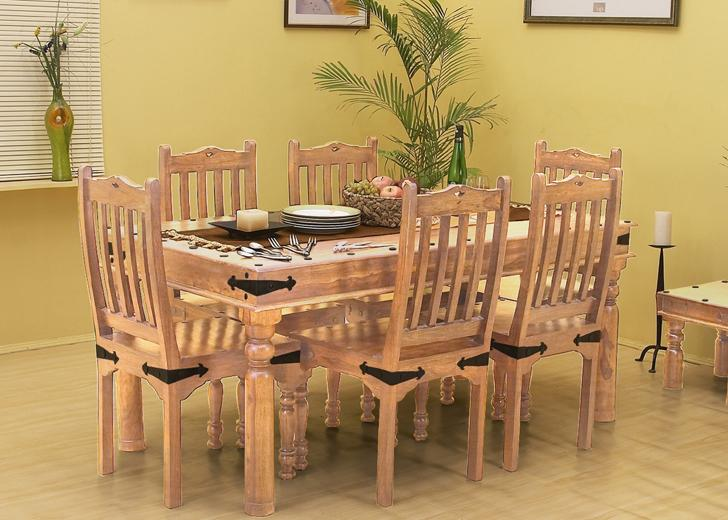 Solid Wood Jaipur Dining Set with Bench