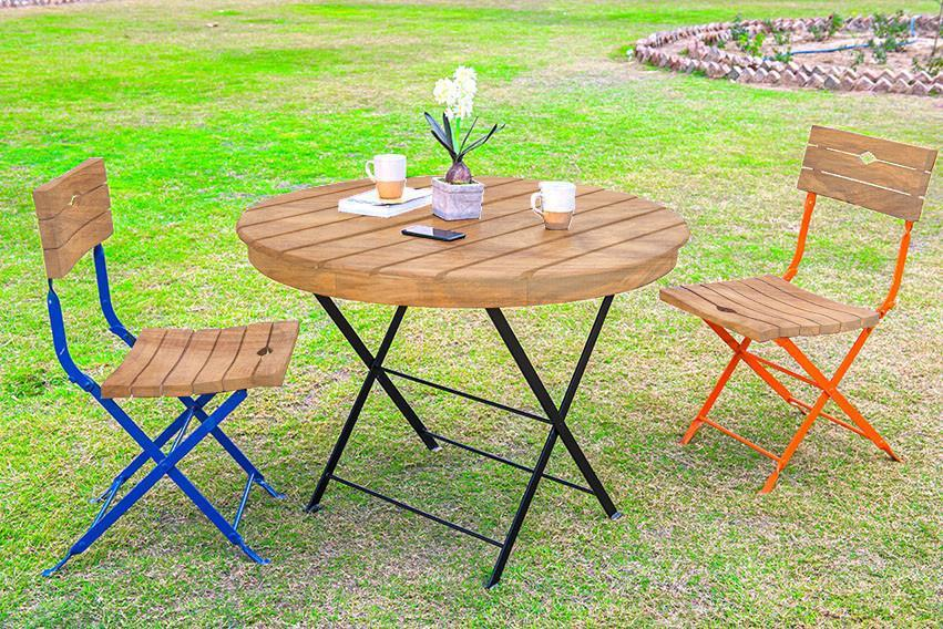 Solid Wood Garden Round Dining Set