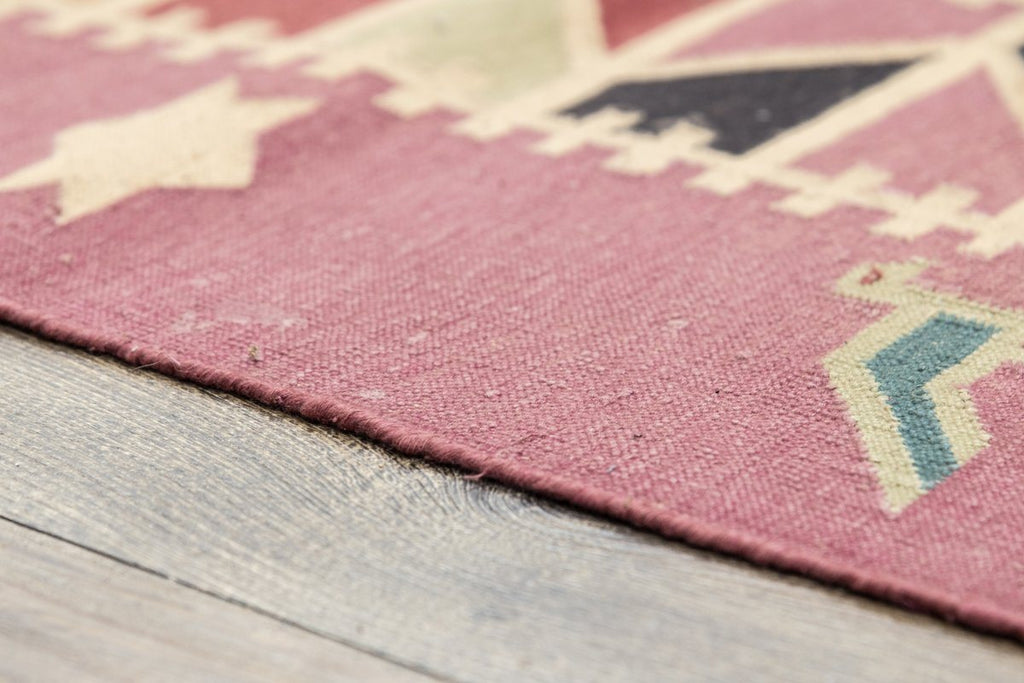 Luxury - Genesis Pink Multy Cotton Hand Knotted Premium Durrie