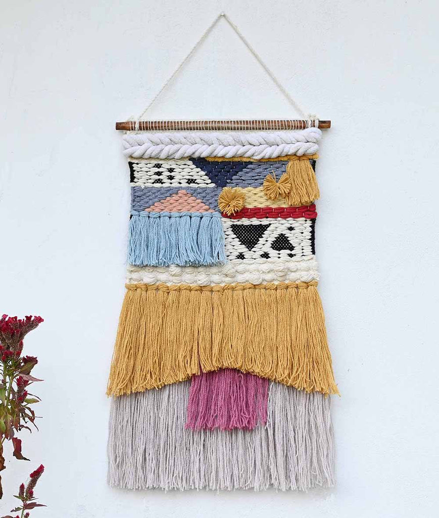 Sona Blended Wool Handwoven Wall Hanging Art