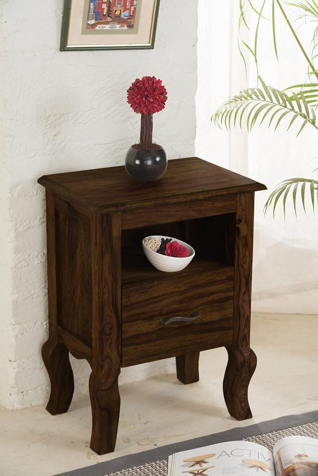 Solid Wood Tania Bedside Table