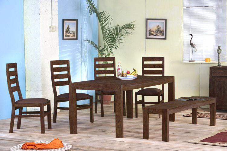 Solid Wood Cubex Dining Set