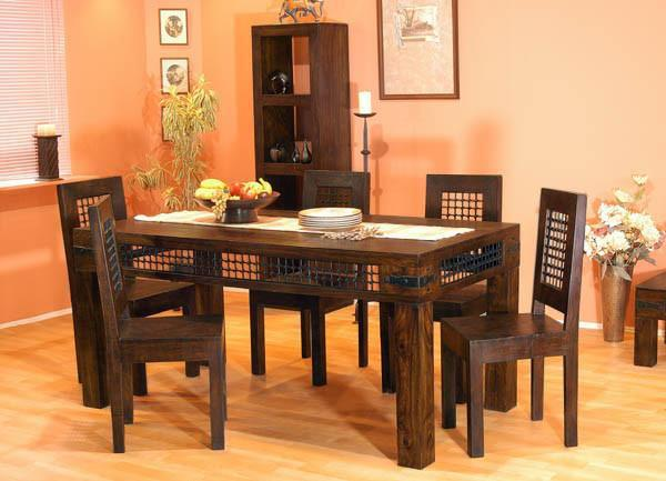 Solid Wood Jali Dining Set B