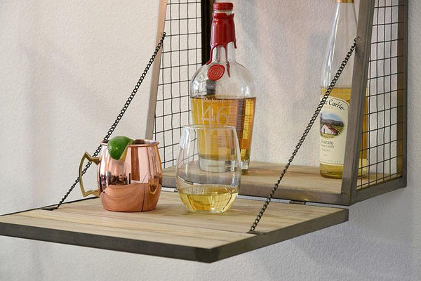 Solid Wood Indiana Wall Hanging Bar