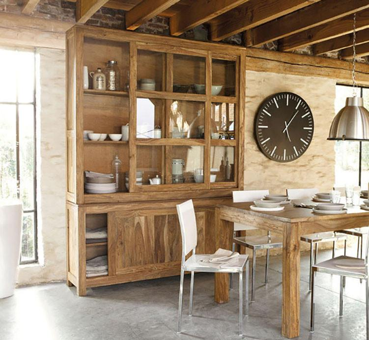 Buy Solid Wood Voted Kitchen Cabinet Grand Online