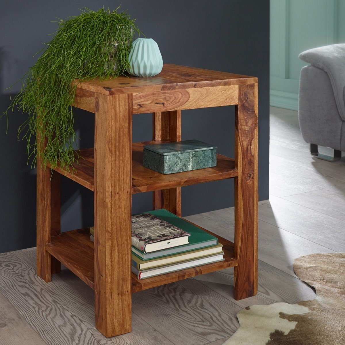 Buy Solid Wood Charlie Corner Table Online New Launches