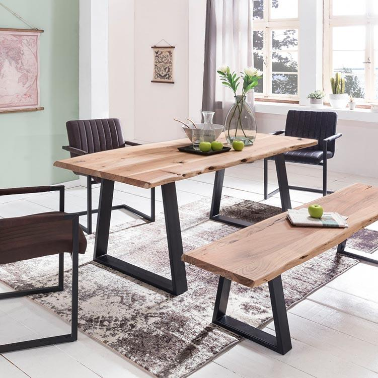 Solid Wood Indiana Live Dining Set