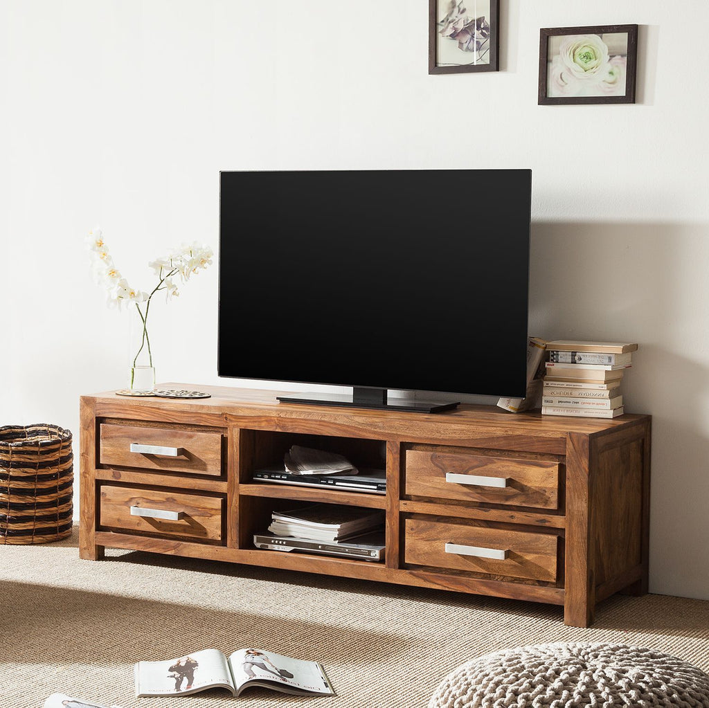 Solid Wood Port Plasma Tv unit Grand
