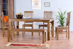 6 Seater Set with 4 Chairs and Bench