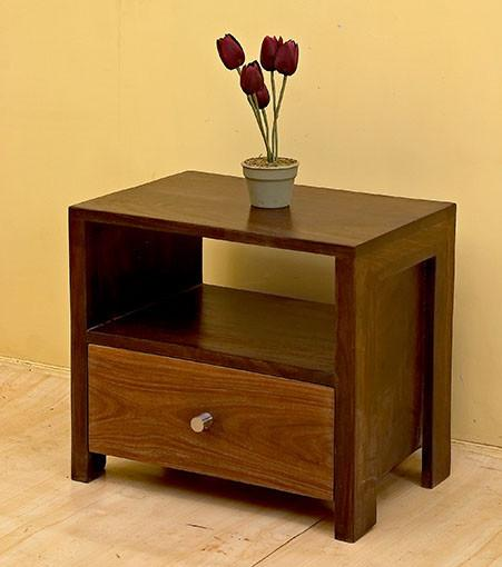 Solid Wood T Contrast Bedside
