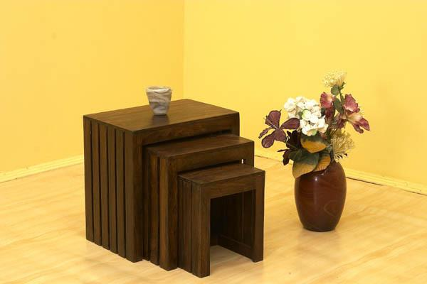 Solid Wood Criss Stool Set