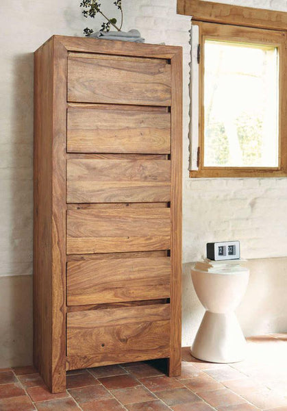 Solid Wood Voted Chest of Drawers Tall
