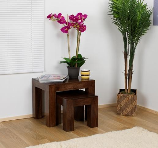 Solid Wood Romeo Stool Set