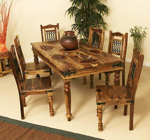 Tremendous Solid Wood Jali Dining Set 6 Seater Beutiful Home Inspiration Xortanetmahrainfo