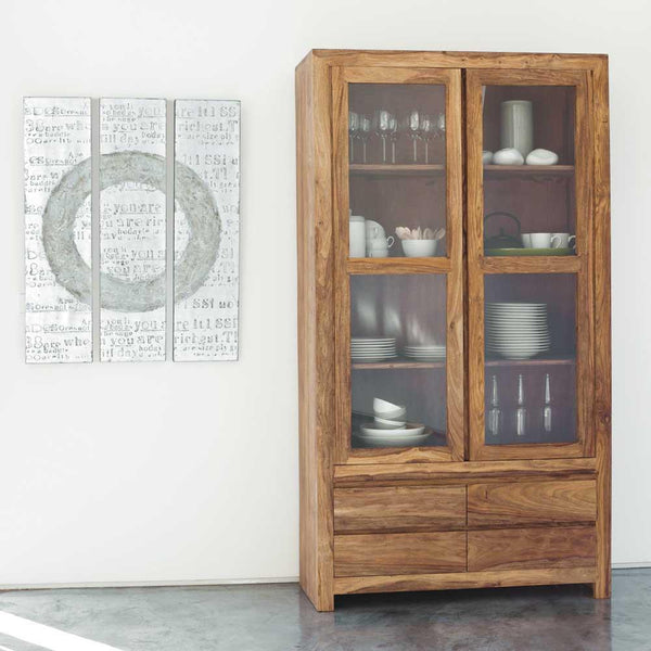 Voted kitchen cabinet indian solid sheesham wood for Kitchen cabinets jaipur