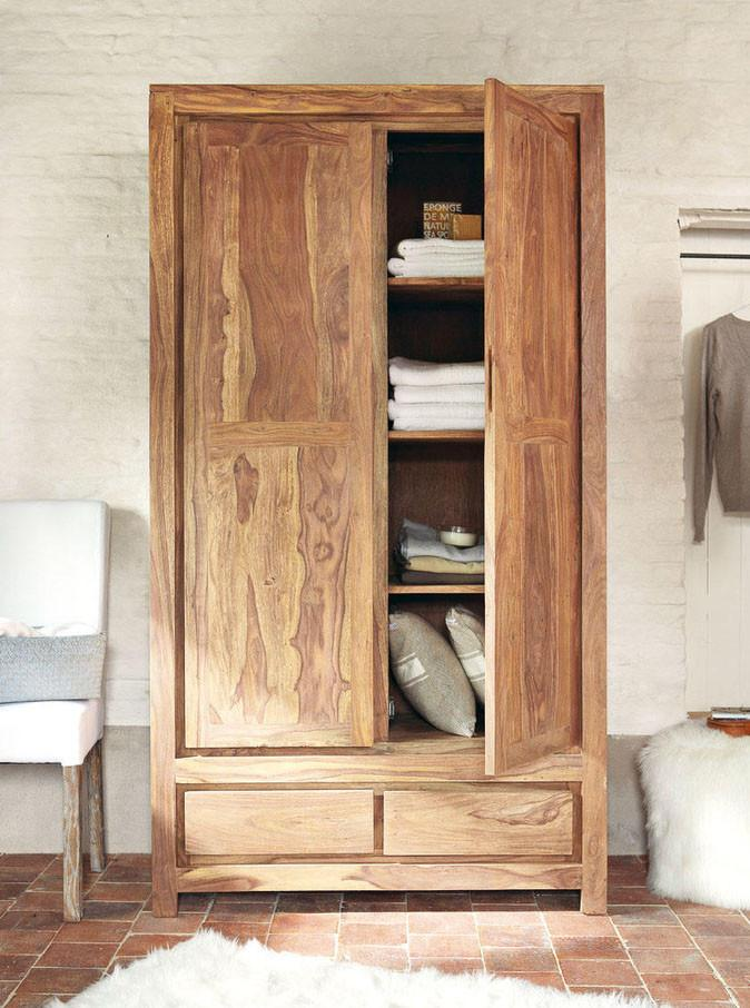 Solid Wood Voted Wardrobe