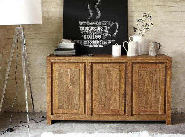 Solid Wood Voted Sideboard 3 Door Grand