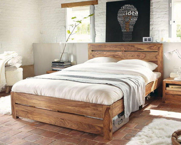 Solid Wood Voted Bed