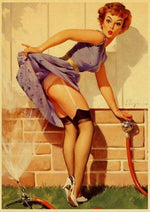 Affiche Vintage<br> Pin Up Jardin - Louise Vintage