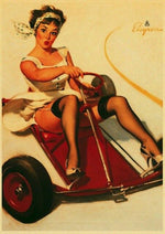 Affiche Vintage<br> Pin Up Kart - Louise Vintage